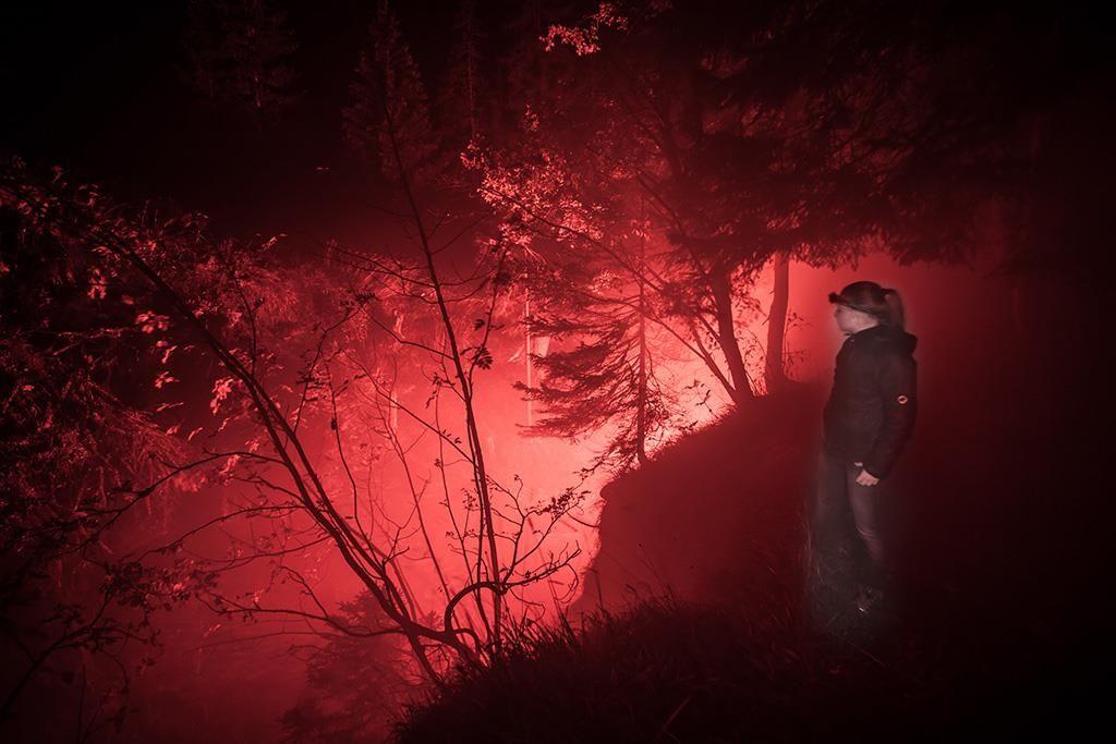 Mystische Dalaschlucht-Beleuchtung