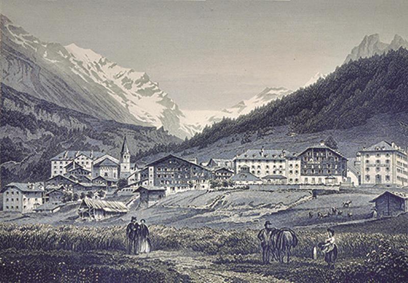 Leukerbad Dorf damals