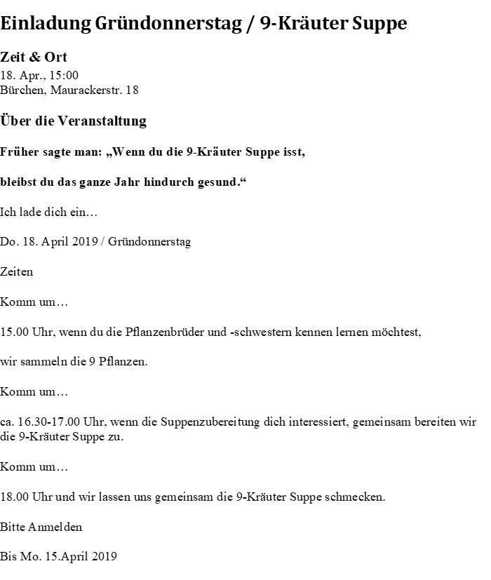 9-Kräuter-Suppe