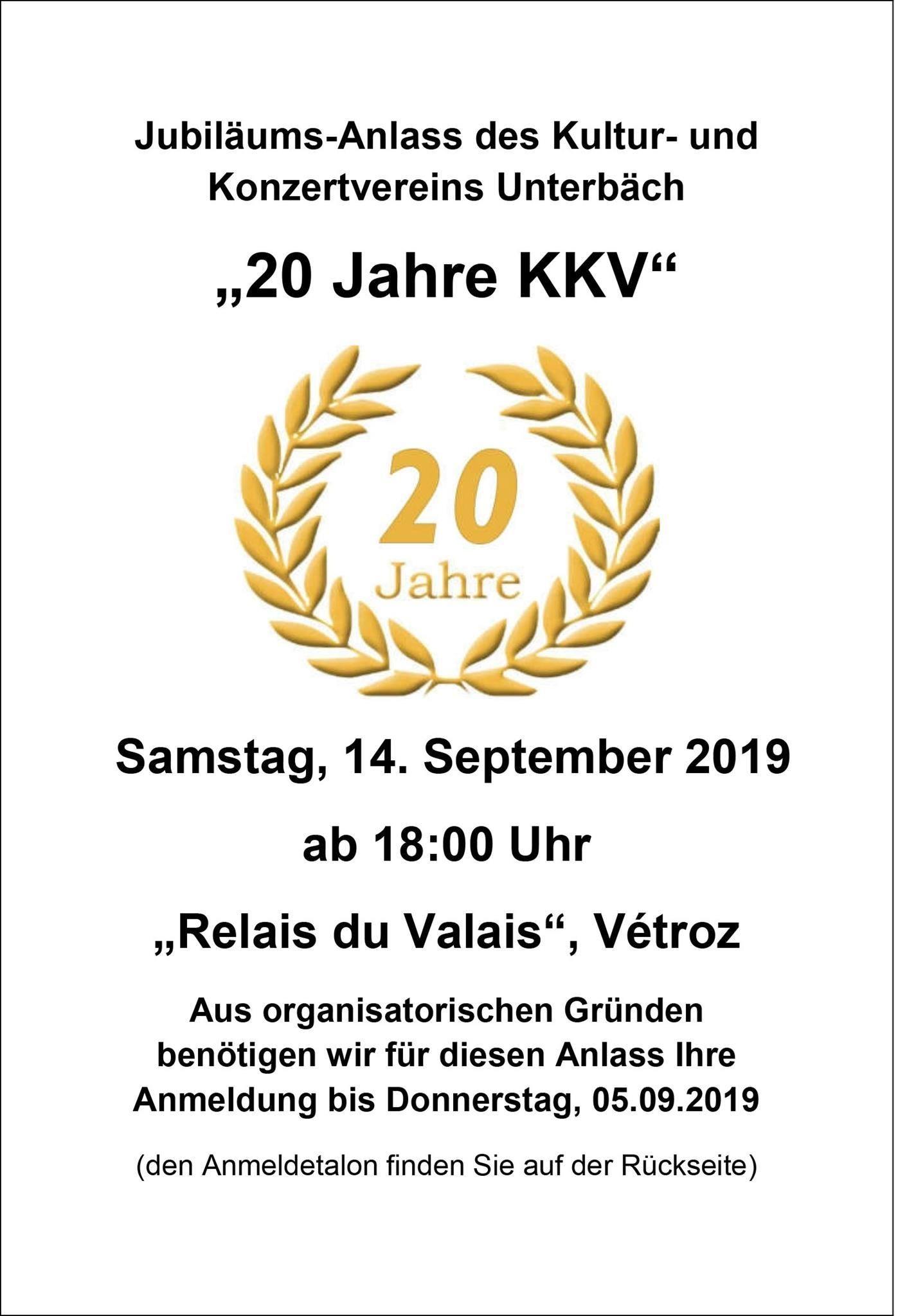 Jubiläumsanlass KKV 20 Jahre