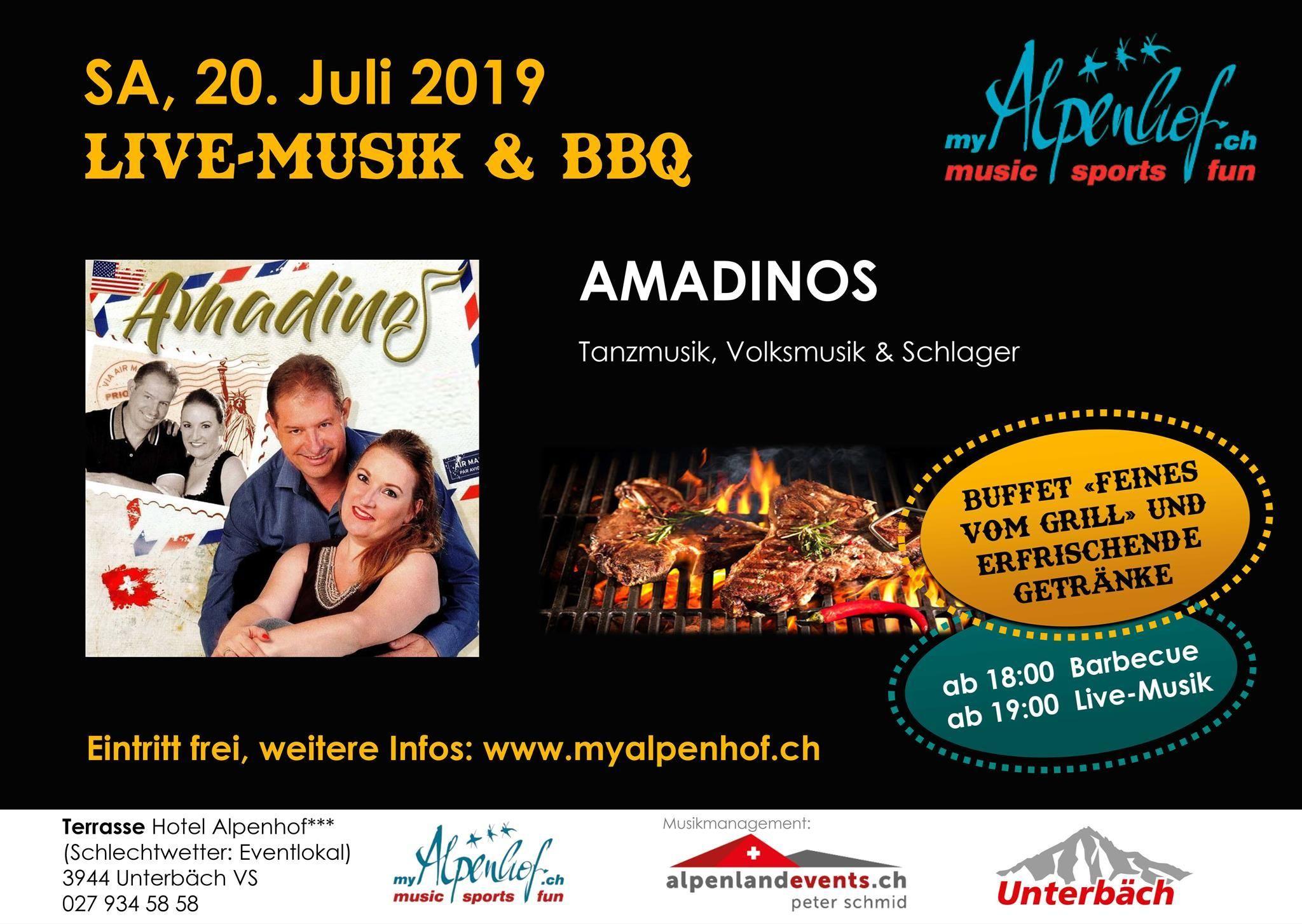 Live-Musik & BBQ im Alpenhof:Amadinos