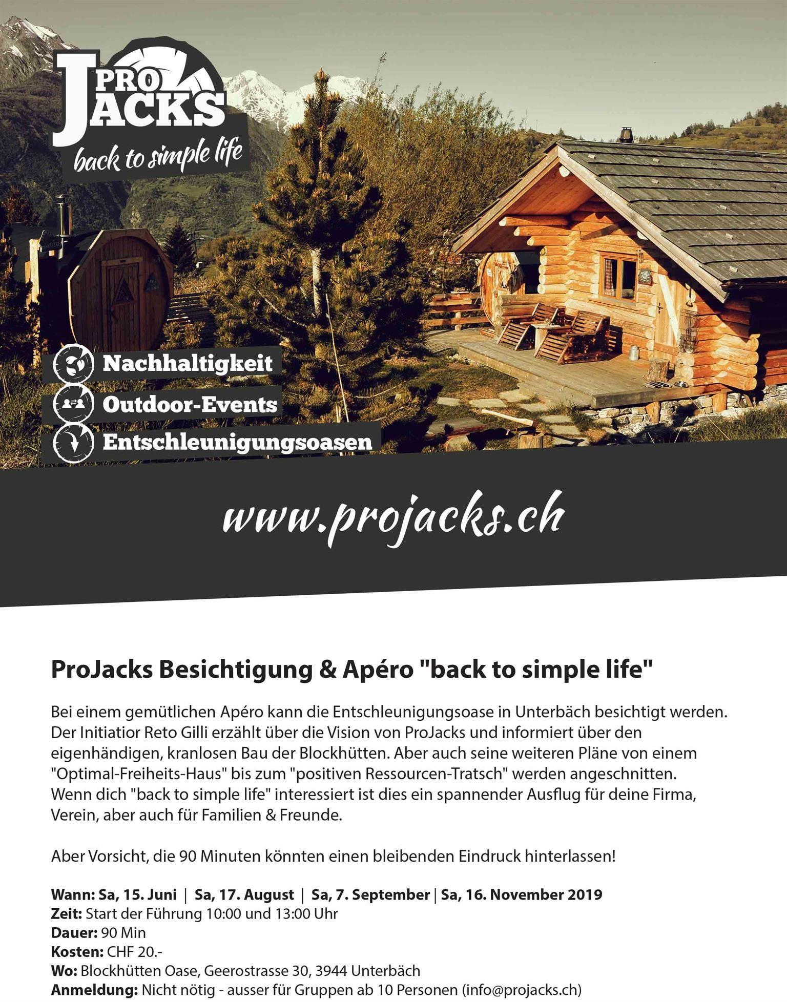 Besichtigung Pro Jacks