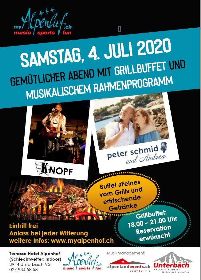 Grillbuffet mit musikalischem Rahmenprogramm