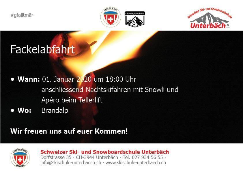 Fackelabfahrt Skischule